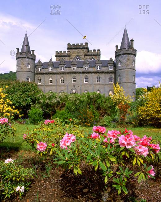 Inveraray Castle, home of the Duke and Duchess of Argyll, Scotland