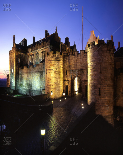 Stirling Castle at night, Scotland