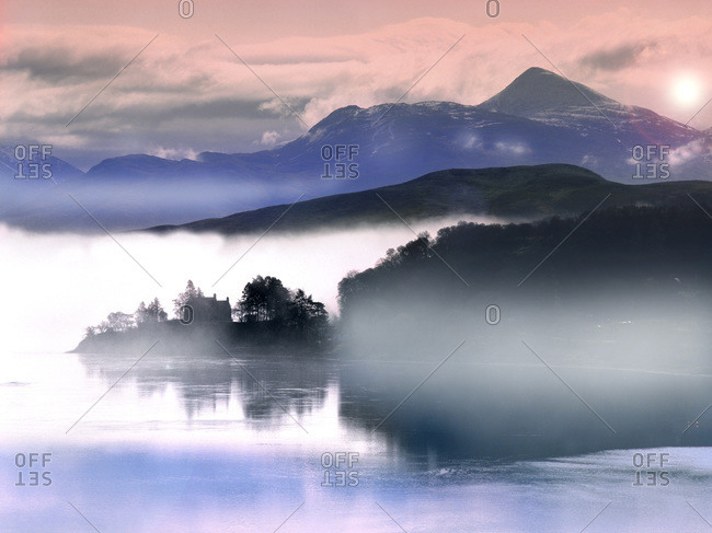 Morning mists on Loch Etive