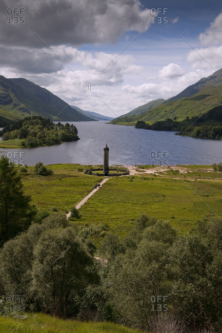 The Jacobite monument on Loch Shiel, Glenfinnan