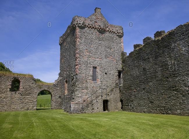 Inside Skipness Castle on Kintyre Peninsula, Scotland