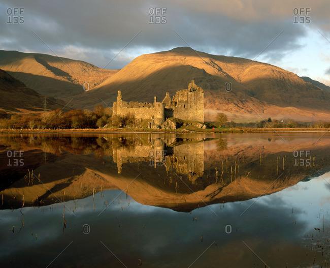 Kilchurn castle reflected, Loch Awe, Argyll