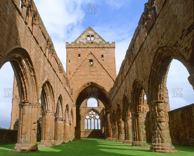 Interior of Sweetheart Abbey