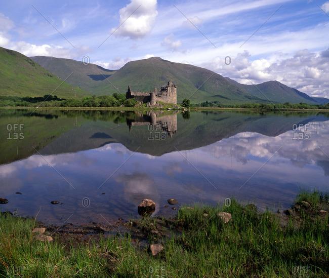 Summer view of Kilchurn castle, Loch Awe, Argyll