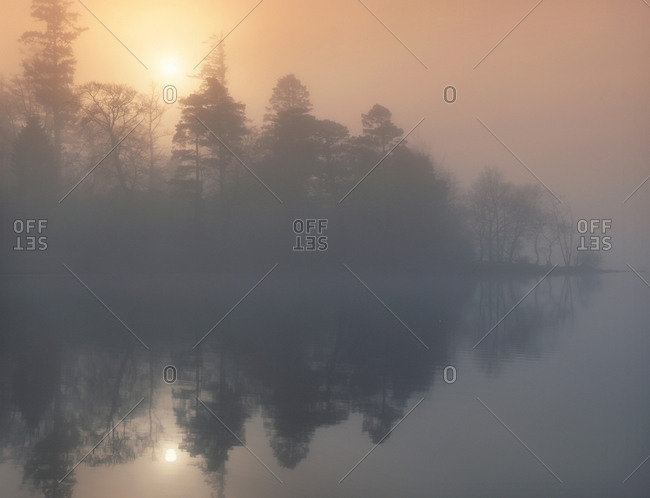 Misty scene on Loch Awe,Argyll