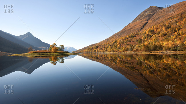 Autumn reflections on Loch Leven