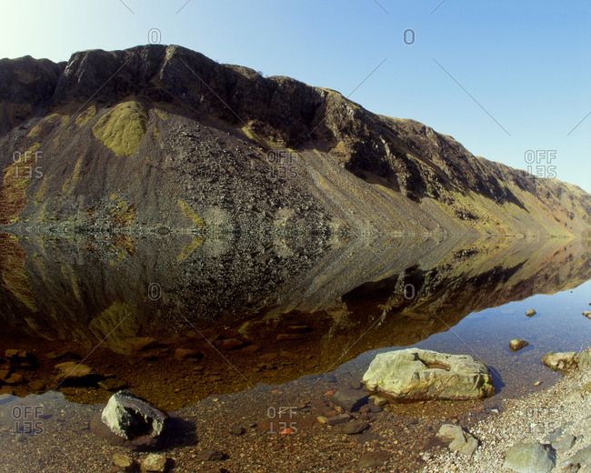 Low angle view of Pass of Brander, Loch Awe, Argyll