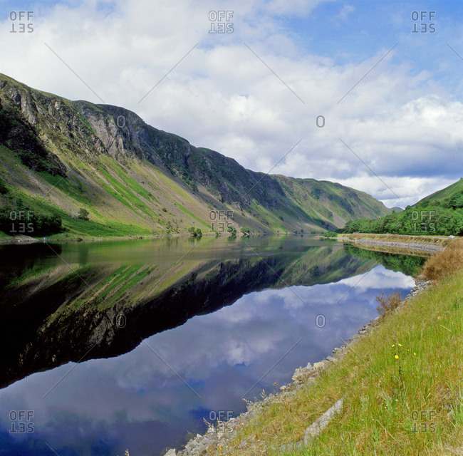 Summer reflections in the Pass of Brander, Loch Awe, Argyll