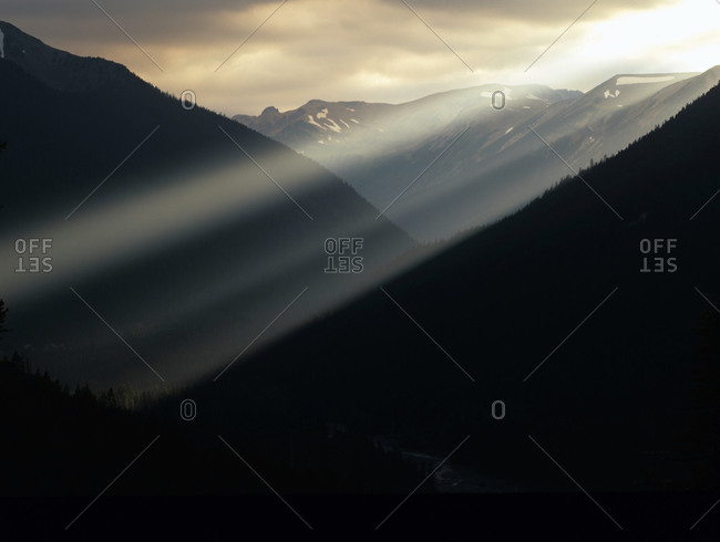 Sunset in Mt. Rainier National Park, Washington, USA