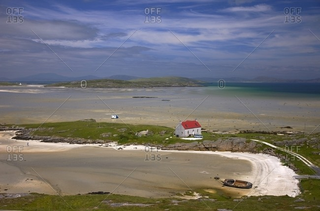 Beautiful beaches near Crannog Traigh Mhor, Isle of Barra, Outer Hebrides