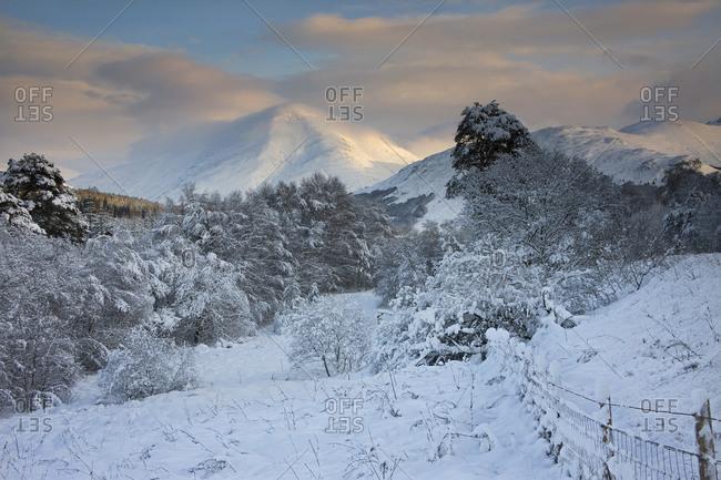 Winter view towards Ben More, Crianlarich