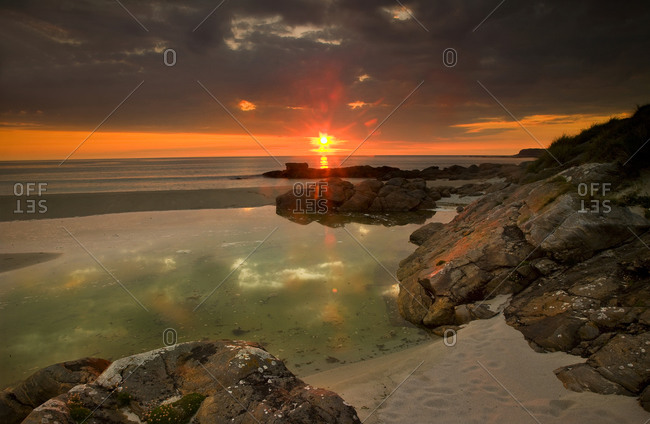 Sunset over the island of Barra, Outer Hebrides