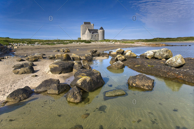 Old Breachacha Castle on shore, Isle of Coll