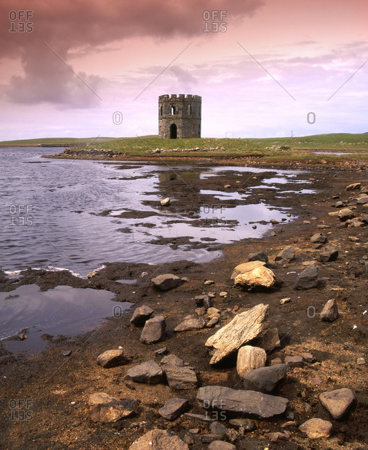 Castellated Folly on Loch Scalpaig, North Uist, Outer Hebrides