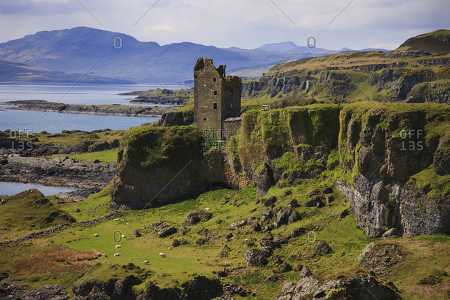 View of Gylen Castle, Kerrera, Argyll and Bute