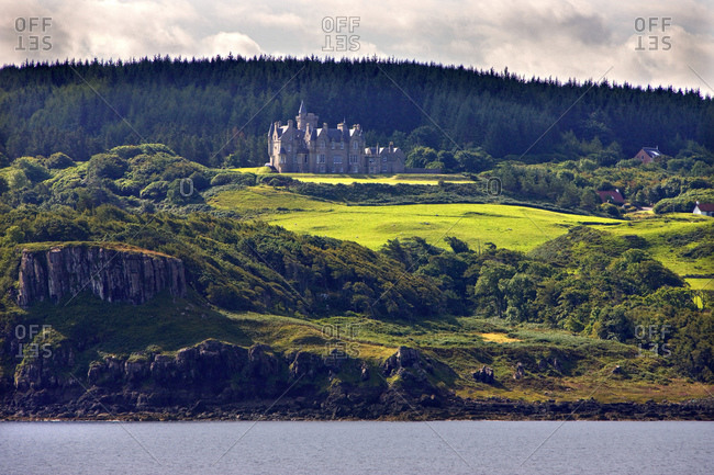 Glengorm Castle on the Island of Mull, Scotland