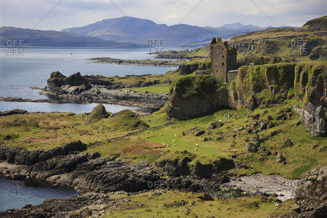The Gylen Castle on the Isle of Kerrera, Scotland