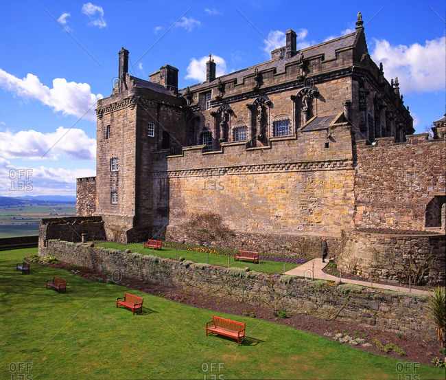 Stirling Castle on a sunny day, Scotland