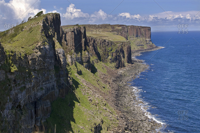 View towards the Kilt Rock on the Isle of Skye, Scotland