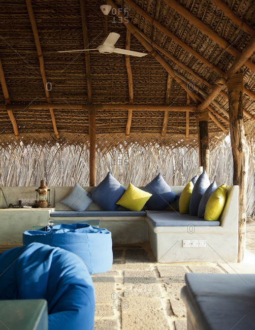Chill-out place for guests, Kalpitiya, Sri Lanka