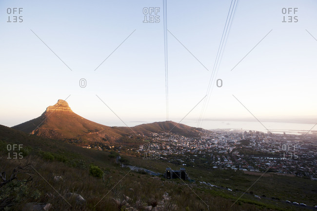 Lion's Head Mountain and City Bowl in Cape Town, South Africa
