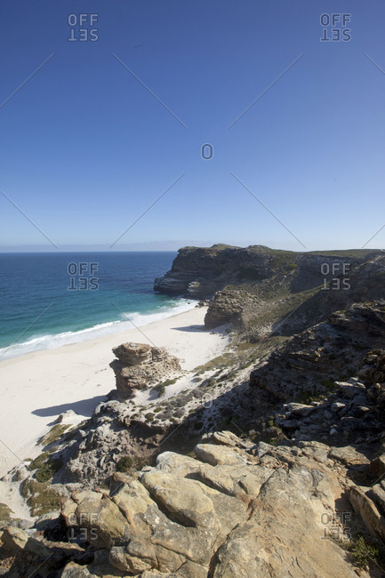 Secluded beach at Cape Point, South Africa