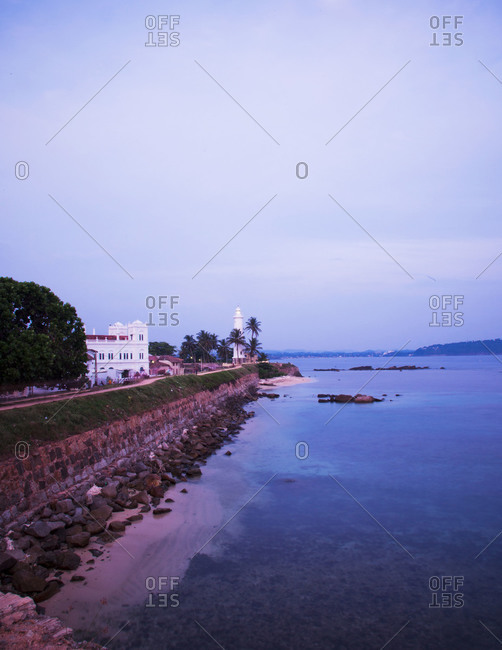 The ramparts of Galle Fort at dusk, Galle, Sri Lanka