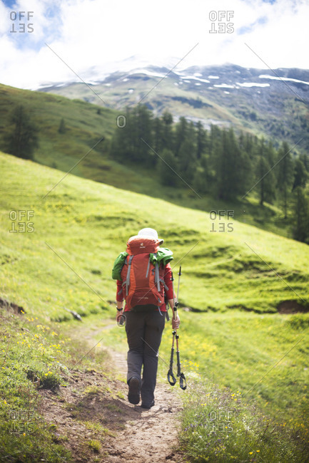 Summer trekking in the mountains