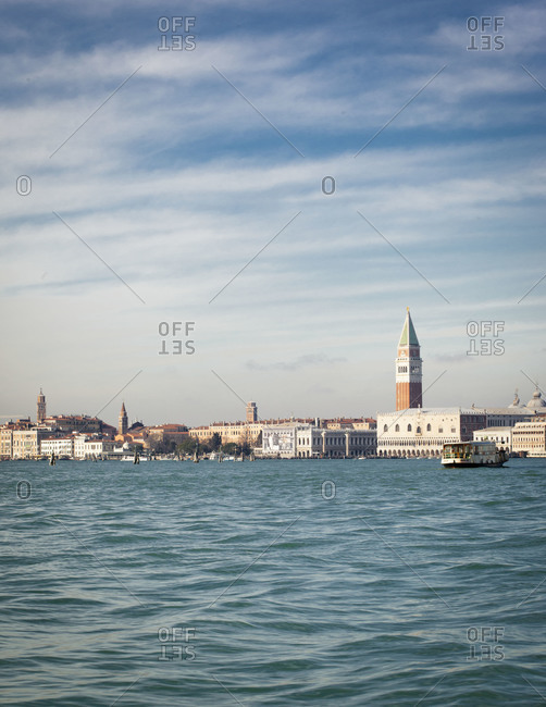 Piazza San Marco seen from the water, Venice, Italy