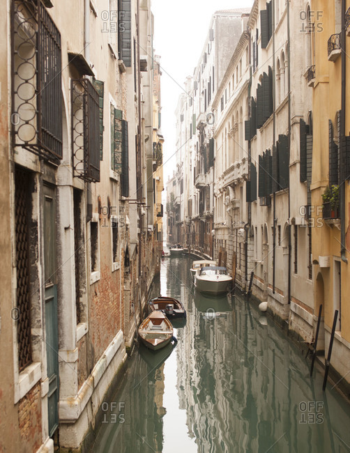 View of canal in Venice, Italy