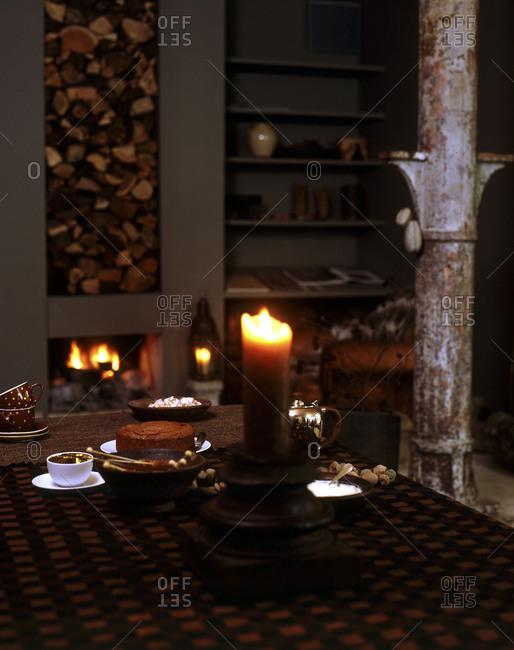 Still life of autumnal tea time