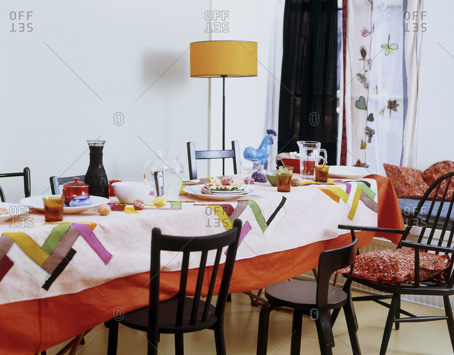 Dining room for celebrating Easter