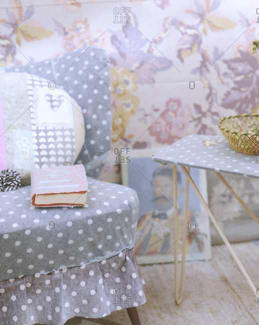 Comfy style corner with book