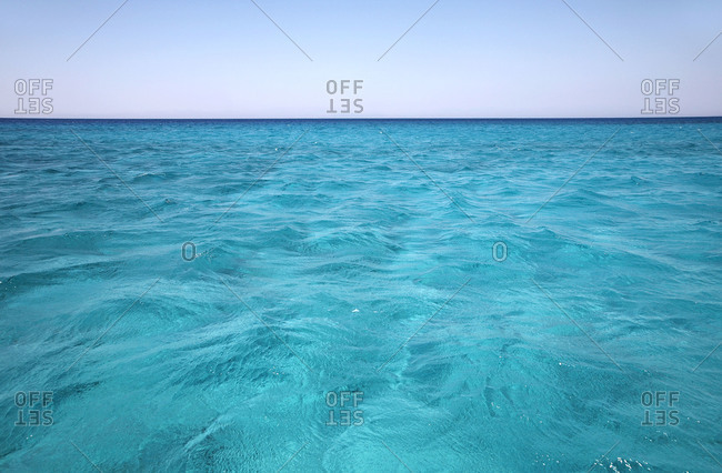 Turquoise seawater in Greece