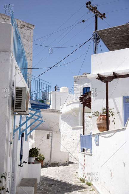Street in town on Kimolos Island, Greece