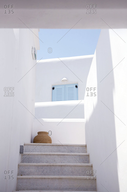 Entrance of the building on Mykonos Island, Greece