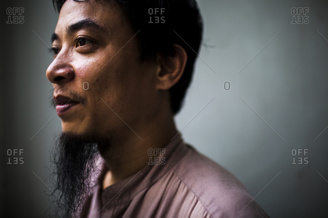 Hanoi, Vietnam - September 16, 2013: Portrait of a student of traditional medicine, Hanoi, Vietnam.