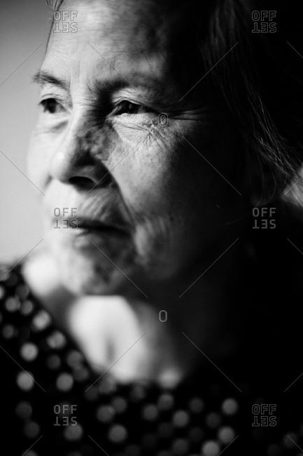 Hanoi, Vietnam - August 30, 2010: Portrait of an elderly Vietnamese Lady in Hanoi, Vietnam.