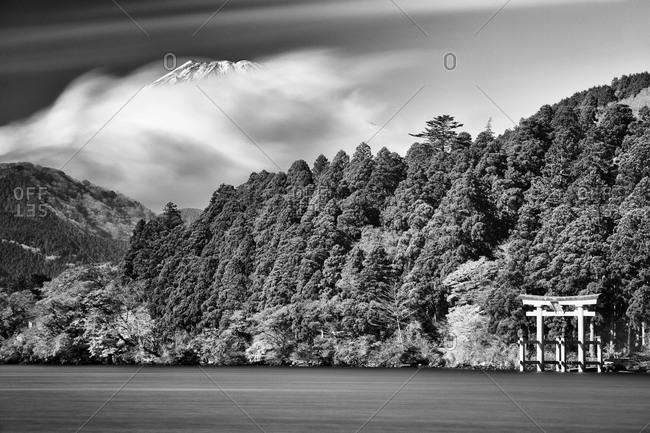 View of Mt. Fuji from Ashinoko Lake, Japan