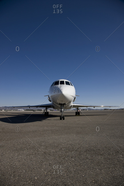 Commercial airline jet on runway