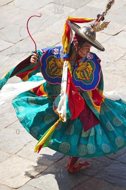 - October 4, 2011: Black Hat dancer, Tshechu Festival at Wangdue Phodrang Dzong Wangdi Bhutan