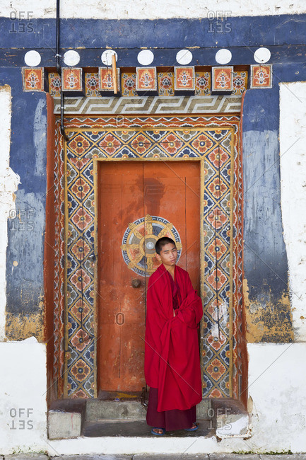 - October 6, 2011: Monk in Buddhist monastery, Tongsa, Bhutan