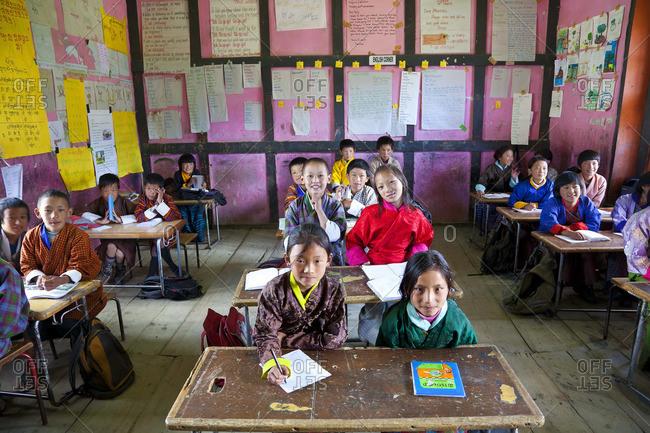 - October 8, 2011: School, Ura Village, Ura Valley, Bumthang, Bhutan