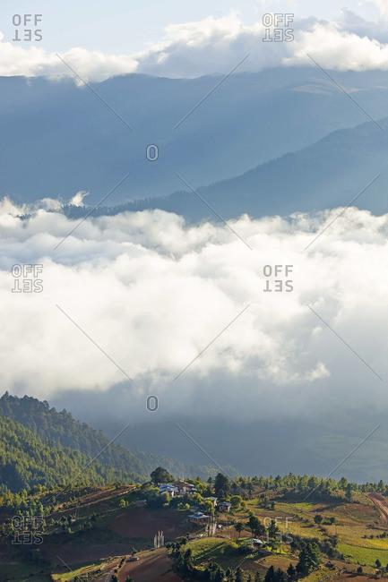 Shingyer village, Ura Valley, Bumthang, Bhutan