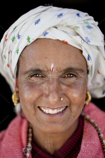 - October 9, 2011: Portrait of Nepalese woman, Nepal