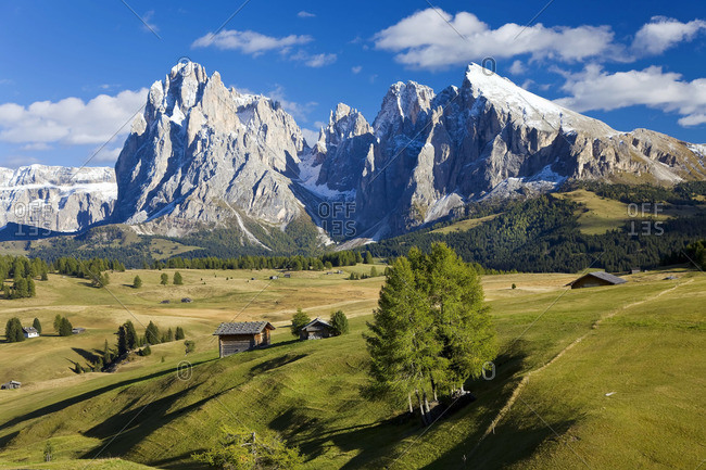 Seiser Alm, an Alpine meadow in Italy