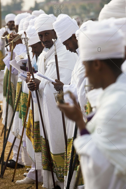 - January 19, 2009: Procession of priests at Timkat, a celebration of Epiphany, Addis Ababa, Ethiopia