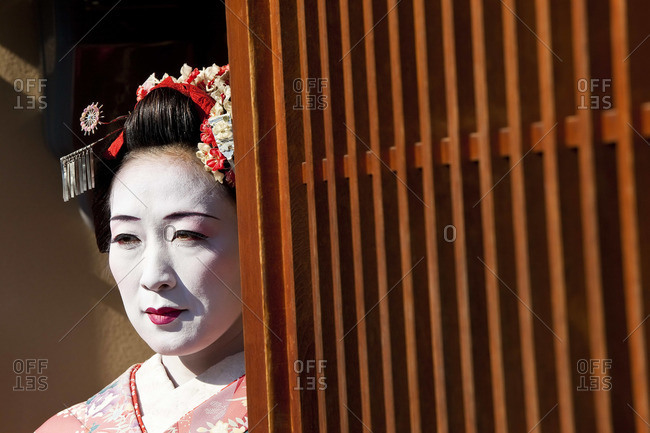 - January 29, 2011: Portrait of a Geisha in Kyoto, Japan