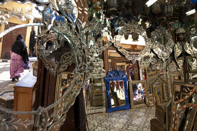 Mirrors in The Souk, Fez, Morocco