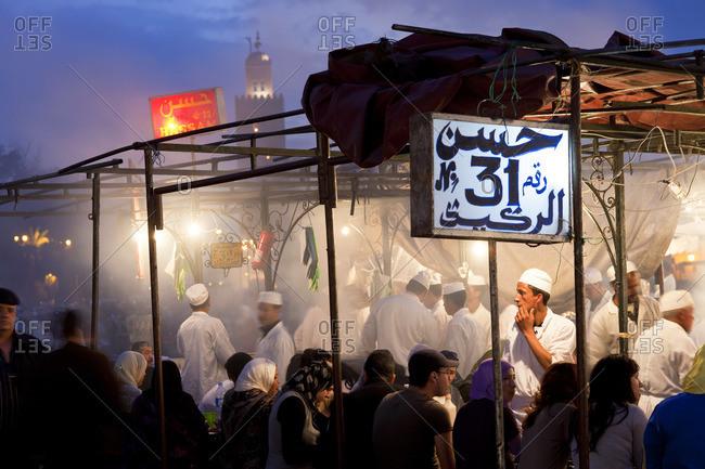 - March 22, 2011: Outdoor food stalls in Jamaa el Fna, Marrakech, Morocco